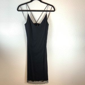 Ralph Lauren Black Slip Midi Dress Size Small